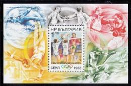 Bulgaria MNH Scott #3354 Souvenir Sheet 1l Volleyball - 1988 Summer Olympics Seoul - Neufs