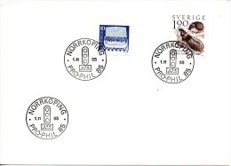 SUEDE. Enveloppe Ayant Circulé En 1985. Pro-Phil'85. - Suède