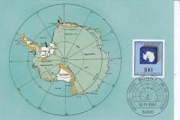Geographie, Antarktique, Carte Maximum Allemande 1981 - Geography