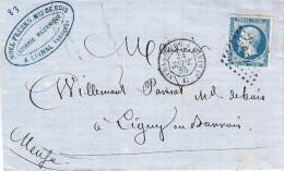 Y&T  22 Obl SP 2° Du 24 Sept 65 STRASBOURG A PARIS 1 ° G Sur LAC. De EPINAL Adressée à Ligny Rn Barrois - Marcophilie (Lettres)