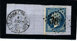 France 1862  ( N° 22 Ob.GC  3624  - S/fragment  StGeorges D´Oléron) - 1862 Napoleone III