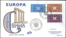 Europa CEPT Chypre - Cyprus - Zypern 1963 Y&T N°217 à 219 - Michel N°225 à 227 FDC1 - Europa-CEPT