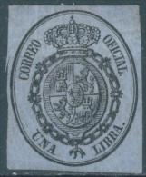 SPAIN - 1855 - SANS GOMME WITHOUT GUM  - Yv 8 Edifil 38 Mi 8 - Lot 11010 - Officials
