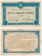 1914 - 1920 // Nantes // 50 Cts - Bons & Nécessité