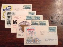 US 1949 FDCs (x5) - 100th Anniversary Of Minnesota Territory Covers - Vereinigte Staaten