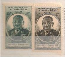 Madagascar - Gouverneur Général Eboué - 1945 - YT 298 299 ** - Madagascar (1889-1960)
