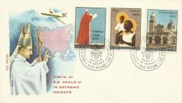 Vatican City 1970  Pope Visit Souvenir Cover - Vatican