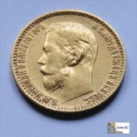 Rusia - 5 Rublos - 1899 - Rusia