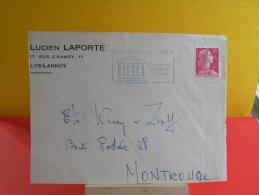 Flamme - 59 Nord, Lille Gare, UNESCO Au Service De La Paix - 7.12.1955 - Marcophilie (Lettres)