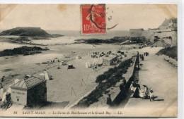 CPA 35 ST MALO LA GREVE DE BON SECOURS ET LE GRAND BEY 1908 - Saint Malo