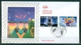 FDC ( Soie,silk,Seide ) # 2005 -France #  Héros Des Jeux Video  # Lara Croft -Spyro # Paris - FDC