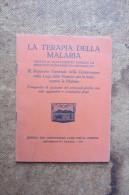 LIBRETTO TERAPIA DELLA MALARIA_ RAPPORTO DELLA COMMISSIONE NELLA LEGA DELLE NAZIONI_OLANDA 1933 - Scienze & Tecnica