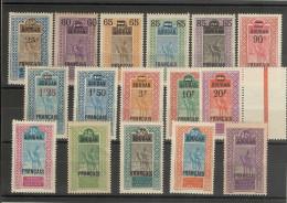 Soudan Français _ Série 37/52 (neufs) - Unused Stamps