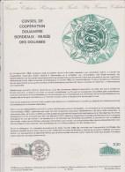 DOCUMENT PHILATHELIQUE COOPERATION DOUANIERE - Documentos Del Correo
