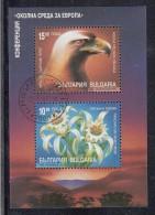 Bulgaria Used Scott #3862 Souvenir Sheet Of 2 European Nature Conservation Year - Oblitérés