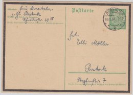 DR, 5 Pfg. Hindenburg Trauer-GA, Rostock 1934 - Ganzsachen