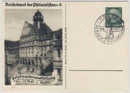 DR - 6 Pfg. Hindenburg, Privat-GA + SST Briefmarkenausstellung Kassel 1937 - - Ganzsachen