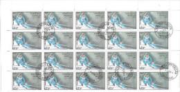 Laos  1992  Winter Olympics, Albertville `92  250.k  (o)  Complete Sheet X 40 - Laos
