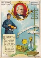CHROMO  HUNTLEY & PALMERS BISCUITS 12 X 8.3 CM - INVENTEUR DU TELEGRAPHE - SIR CHARLES WHEATSTONE - 2 SCANS - Confetteria & Biscotti