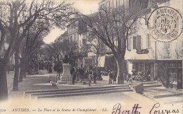 06 / ANTIBES / LA PLACE ET LA STATUE DE CHAMPIONNET / LL 712 / NON DIVISEE 1903 - Antibes