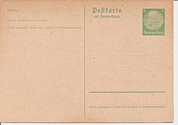 DR P 228 I ** 5 Pf Hindenburg Medaillon - Doppelkarte - Ganzsachen