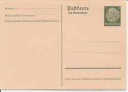 DR P 229  I ** 6 Pf Hindenburg Medaillon - Doppelkarte - Ganzsachen