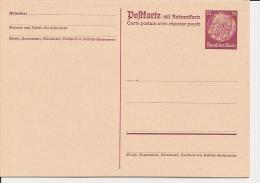 DR P 230 ** 15 Pf Hindenburg Medaillon - Doppelkarte - Ganzsachen
