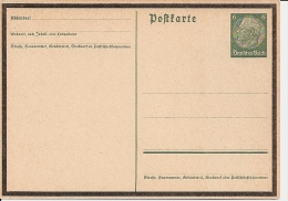 DR P 235a ** 6 Pf Hindenburg Medaillon Trauerkarte - Ganzsachen