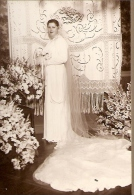 "NOVIA-SPOSA-BRIDE ""PHOTO HENRY"" BUENOS AIRES ARGENTINA VOYAGÉE 1936 VINTAGE DRESS SIZE 23.5 X 33CM RARISSIME! GECKO"