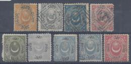 TURQUIE - 1865-67 - PETIT LOT DE 9 TIMBRES OBLITERES  & NEUFS -  X - O -  COTE : 66.50 € - - 1858-1921 Imperio Otomano