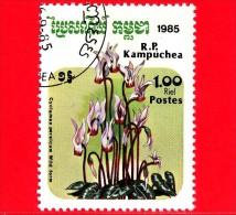 KAMPUCHEA - Cambogia - 1985 - Fiori - Flowers - Fleurs - Ciclamino - Cyclamen Persicum - 1.00 - Kampuchea