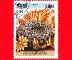 KAMPUCHEA - Cambogia - 1985 - Cactus - Rebutia Marsoneri - 0.50 - Kampuchea
