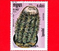 KAMPUCHEA - Cambogia - 1985 - Cactus - Melocactus Evae - 0.80 - Kampuchea