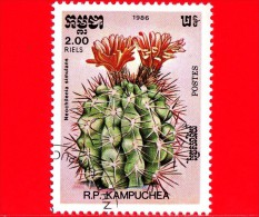 KAMPUCHEA - Cambogia - 1985 - Cactus - Neochilenia Simulans - 2.00 - Kampuchea