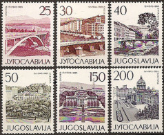YUGOSLAVIA 1965 20th Anniversary Of Liberation Yugoslav Capitals Set MNH - 1945-1992 Socialist Federal Republic Of Yugoslavia