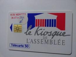 RARE : DECALAGE RECTO & VERSO SUR LE KIOSQUE DE L'ASSEMBLÉE 50U - Variëteiten