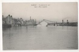 ELBEUF - La Crue De La Seine - Quai Et Pont Suspendu - Elbeuf