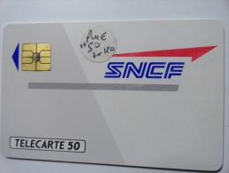RARE : PUCE DE 120U SUR SNCF TÉLÉCARTE 50U  NRSERIE 305402417 - Francia