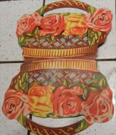 @ ANCIEN PORTE AIGUILLE S A COUDRE EN PAPIER CARTONNE IMITANT UN PANIER DE ROSE - Creative Hobbies