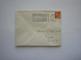 France   :Marcophilie : Oblitération :   MIRECOURT (vosges) 88 En 1957 - Oblitérations Mécaniques (flammes)