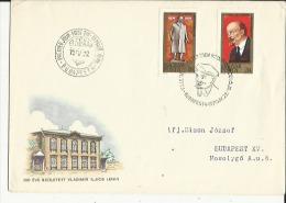 Enveloppe  Timbree  (  De 1er Jour  EL SO NAP  Le 22-4-1970 Budapest  A Mr Simon Jozsef A Budapest XV En1970 - Enteros Postales