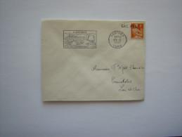 France   :Marcophilie : Oblitération : CASTRES (tarn) En 1957 - Oblitérations Mécaniques (flammes)