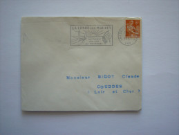 France   :Marcophilie : Oblitération     LA  LONDE Les MAURES ( VAR) En 1957 - Oblitérations Mécaniques (flammes)
