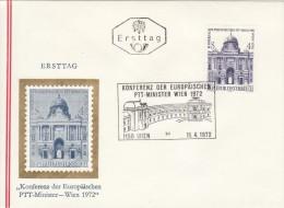 AUSTRIA 1972 EUROPA SYMPATHY ISSUE  FDC - Europäischer Gedanke