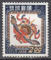 Ryukyu Isl.   Scott No   42    Unused Hinged     Year 1957 - United States