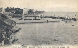 BRETAGNE - 56 - MORBIHAN - BELLE ILE EN MER - Le Palais L'entrée Du Port - Phares Et Citadelle - Belle Ile En Mer