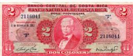 COSTA RICA : 2 Colones 1967 (vf) - Costa Rica