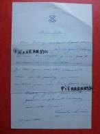 LEOCADIE LEMERCIER CHANTEUSE LETTRE AUTOGRAPHE A MARIE GARNIER 1866 - Autographs