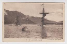 74 - ANNECY PLAGE - LE PLONGEOIR LE TOBOGGAN - 1926 - 2 Scans - - Annecy