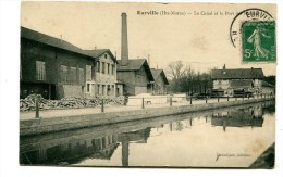 CPA  52  : EURVILLE   Canal, Port Et Usine  1912       A   VOIR   !!!! - France